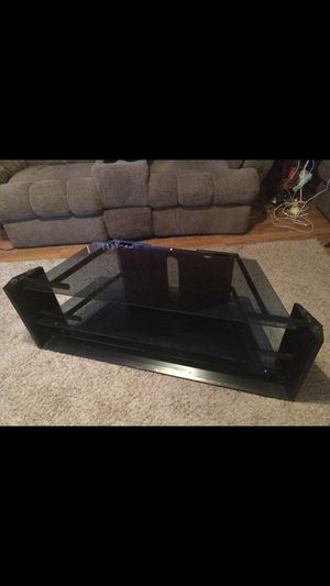 Tv stand with glass shelves ! 50 inches wide and 19 inches tall for Sale in Martinsburg, WV