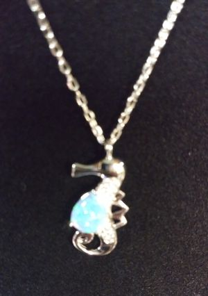 Silver Opal Seahorse Necklace for Sale in North Richland Hills, TX