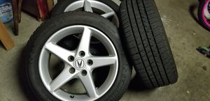 Acura rsx oem rims with almost bnew Michelin tires for Sale in San Francisco, CA