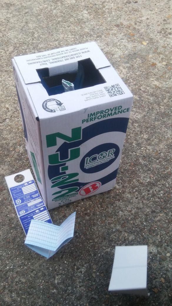 Brand New Sealed Full R22 Enhanced freon NU22-B tank New in box
