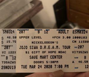 Jojo siwa tickets for Sale in Clovis, CA
