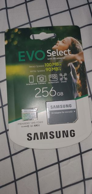 Samsung Memory card 256 GB for Sale in Pasadena, CA