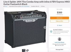 LINE 6 SPIDER JAM COMES WITH FOOT SWITCH AND MANY OTHER FUNCTIONS for Sale in Mission Viejo, CA