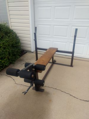 Olympic Bench with Leg Curl/Extension for Sale in Aurora, IL