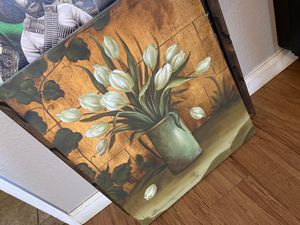 Tulip Flower pot frame canvas for Sale in Bell, CA