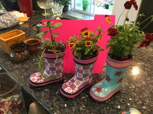 Only one left! ceramic boot with succulents for Sale in Ocean Shores, WA