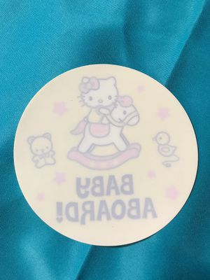 Hello Kitty (Sanrio) Baby Aboard Window Decal for Sale in Rialto, CA
