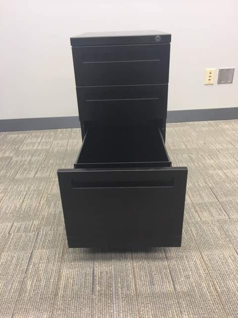 Filing Cabinet, Black in color, 3 drawers