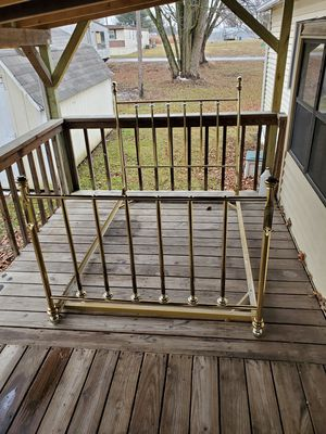 Beautiful Gold Plated Full Bed Frame for Sale in Muscatine, IA