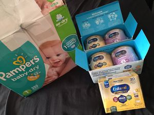 5 cans NEW UNOPENED Formula + Size 1 Diapers for Sale in Lakewood, CO