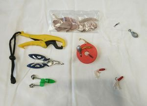 AJT FISHING TACKLE STARTER KIT start up pliers grapper lure pole reel fish for Sale in Fullerton, CA