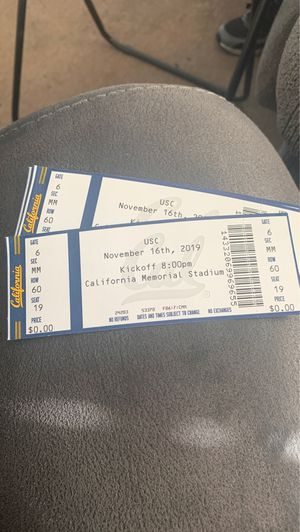 Cal Berkeley football tickets for sale for Sale in Oakland, CA