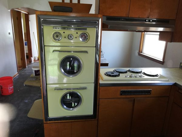 1954 Western Holly Double Oven With Range And Stainless