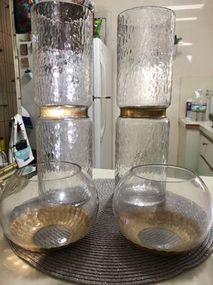 Glass Vases 15 1/4inches for Sale in Miami, FL