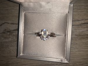 Engagement ring set - Moonstone as main stone for Sale in Tacoma, WA