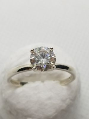 TEST AS A DIAMOND! 1+CT white colorless stone... STERLING SILVER RING! for Sale in Des Plaines, IL