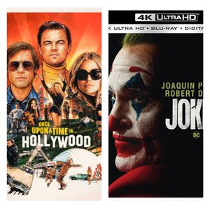 New Release Bundle - Once Upon A time in Hollywood & Joker - 4k Digital Copy for Sale in Jurupa Valley, CA
