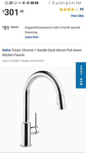 DeltaTrinsic Chrome 1-handle Deck Mount Pull-down Kitchen Faucet 9159-DST for Sale in Durham, NC