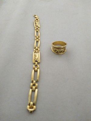 Pulsera de oro 14k y anillo de oro 14k el juego. Las dos las dos 1,200 for Sale in Montgomery, AL
