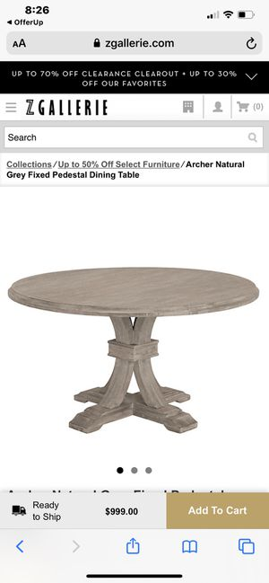 """Zgallerie 54"""" dining table for Sale in Columbus, OH"""