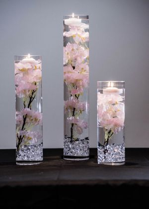 Wedding vases with silver decorations at the bottom,3 different sizes $ 35 per set for Sale in Adelphi, MD