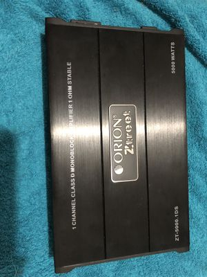 5000 watts Orion ztreet 1 channel class d monoblock amplifier 1 ohm stable for Sale in Providence, RI
