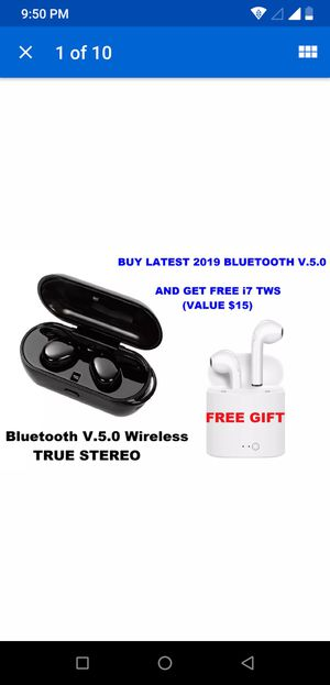 IPX7 Brand new true stereo Wireless Bluetooth 5.0 earphone earbuds headset latest touch control with FREE i7 TWS or 32gb Sandisk USB (Your choice) for Sale in Oswego, IL