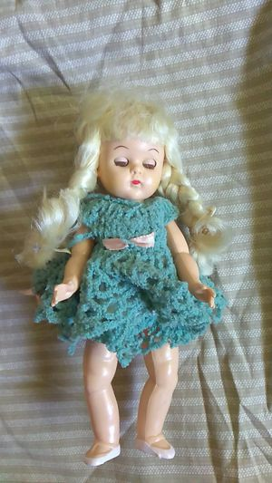 crocheted dress antique doll for Sale in Redding, CA