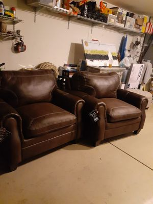 2 Oversized chairs...suede for Sale in Tolleson, AZ
