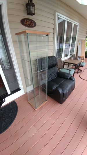 Leather Recliner and Glass Shelf for Sale in Rockville, MD