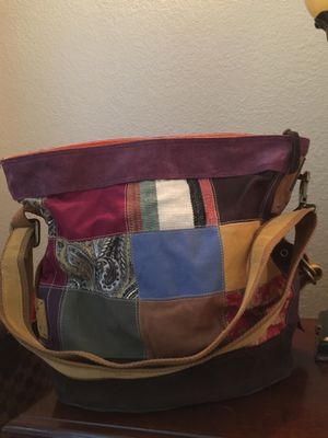 Lucky Brand Suede Patchwork Hobo Bag for Sale in Aurora, CO