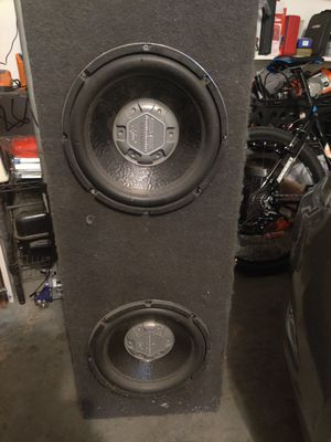 12 subwoofer subs and box for Sale in Orlando, FL