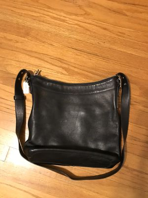 Coach purse handbag bag black leather tote women's ladies girls for Sale in Monrovia, CA