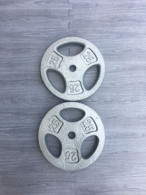 Weights Standard 2x25lb Grip Plates for Sale in Riverside, CA