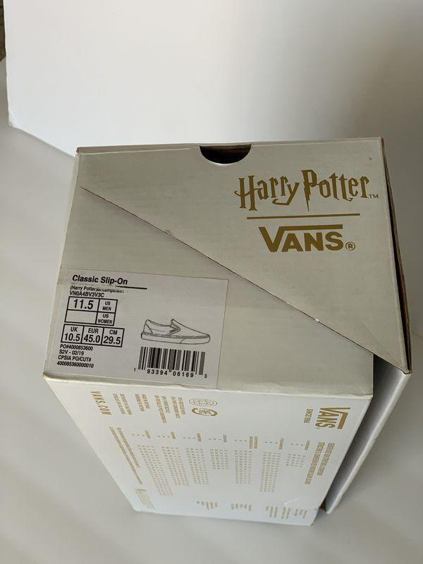 Vans x Harry Potter Marauders Map Classic Slip-on Men's Size 11.5 Womens 13 New