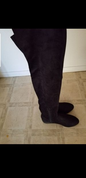 Womens 8.5 low heel thigh high boots for Sale in San Diego, CA