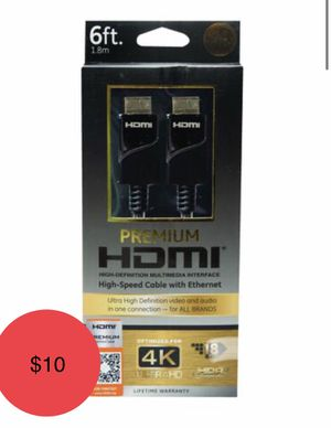 GE 6' Premium 4K HDMI Cable for Sale in Phoenix, AZ