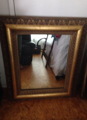 Solid wood, gold painted mirror. for Sale in San Diego, CA