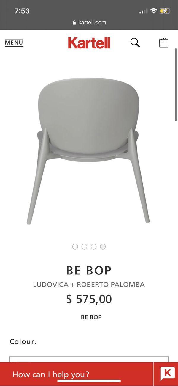 Kartell Be Bop Gray Chair