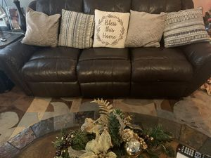 2-piece dark brown reclining room. The big sofa has a small adventure shown in the photo for Sale in Wendell, NC