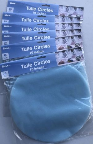 9 Packs. ( Blue) Tulle Circles. 25 Per Pack. 10 Inches. Wedding. Party Favors. Baby Shower. DIY Sewing. Crafts. All For $15 for Sale in Middleburg, FL