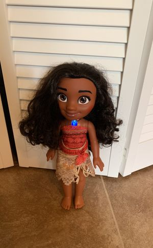 Talking and singing Disney Moana doll for Sale in Dallas, TX
