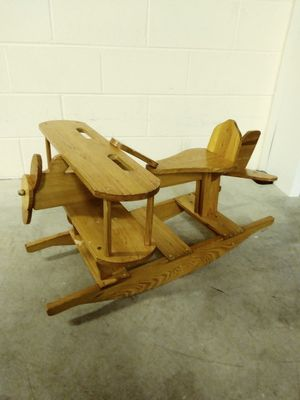 Wooden handmade rocking airplane for Sale in Germantown, MD