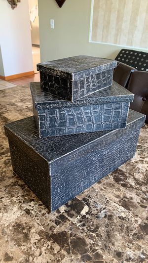 Storage boxes home decoration for Sale in Tracy, CA