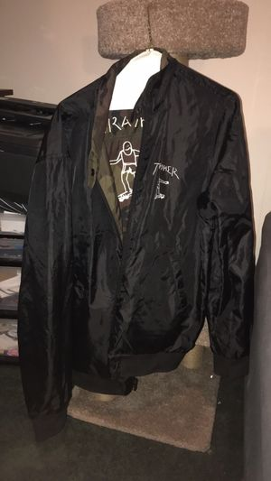 Thrasher Reversible Black/Camo Bomber Jacket for Sale in Queens, NY