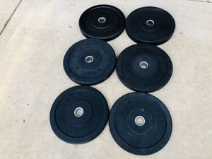 Bumper Plates - Weights - Work Out - Gym Equipment - Exercise - Fitness for Sale in Woodridge, IL