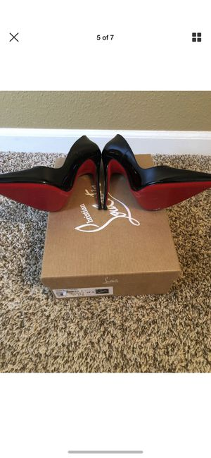 Christian Louboutin So Kate Black 120 Patent Heels size 37.5 with box for Sale in Fort Lauderdale, FL