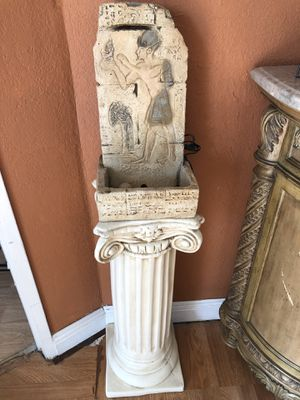 Water fountain indoor or outdoor Egyptian style for Sale in Fontana, CA
