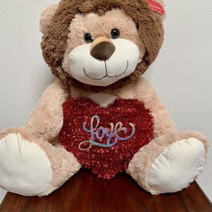 Valentines Day Giant Plush Stuffed Lion for Sale in Irvine, CA