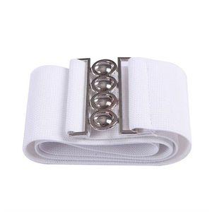 "Women's Fashion Elastic Cinch Women Belt 3"" Wide Stretch Waist Band Clasp Buckle White(womanbelt-wht-USA ) for Sale in Riverside, CA"